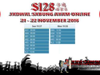 Jadwal Pertarungan Sabung Ayam 27-28 November 2016