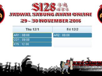 Jadwal Sabung Ayam Live Terbaru Tanggal 1-2 Des 2016