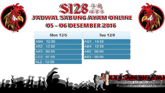 Jadwal Adu Sabung Ayam Live Tanggal 05-06 Desember 2016