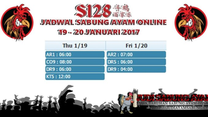 Jadwal-Terkini-Sabung-Ayam-Online-Tanggal-19-20-Januari-2017